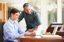 Vader als huisbaas, iedereen blij